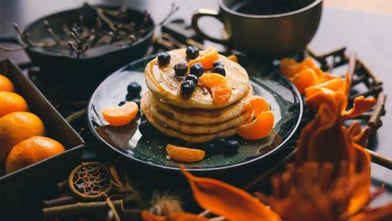 Healthy pancakes with 2 Ingredients (Vegetarian, GF)